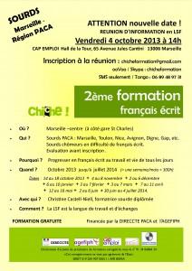 Formation français écrit pour sourds, réunion 04.10.13