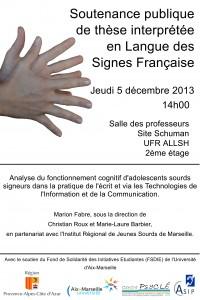 Marion Fabre soutenance